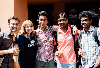 International students sign up with Dashew when they apply to UCLA. The Language Exchange program helps anyone who wants to learn a new language or improve what they already know. Two people are paire ...